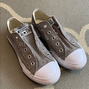 Converse gray and white size one kids